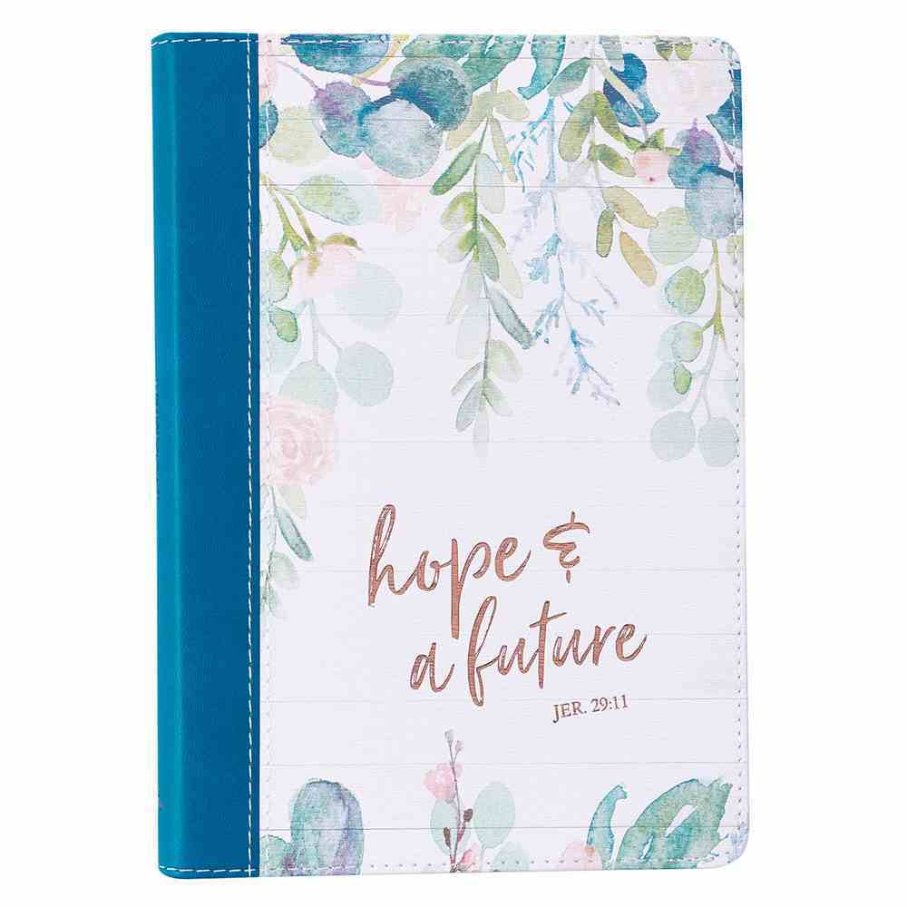 Journal: Hope & Future Green Branches, Slimline (Jer 29:11) Imitation Leather