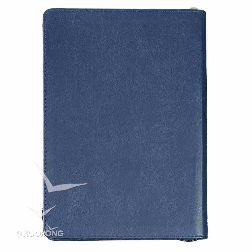 Classic Journal: Hope as An Anchor, Navy Blue/Grey Luxleather Imitation Leather