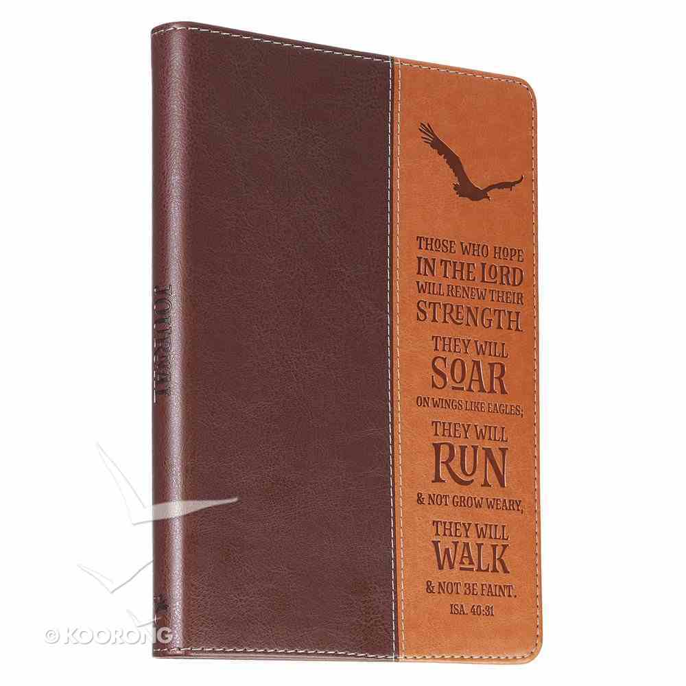 Classic Journal: Wings Like Eagles, Brown/Dark Brown Luxleather (Isaiah 40:31) Imitation Leather