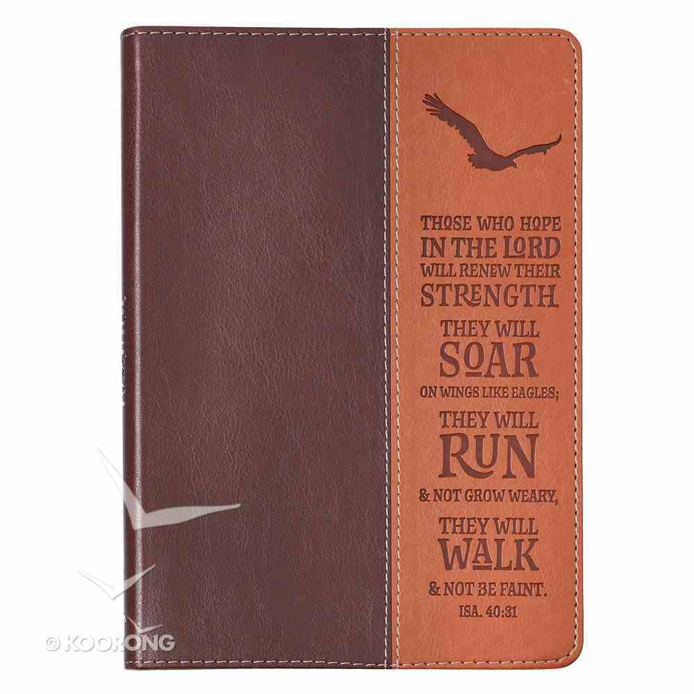 Journal: Wings Like Eagles, Brown/Dark Brown (Isaiah 40:31) Imitation Leather