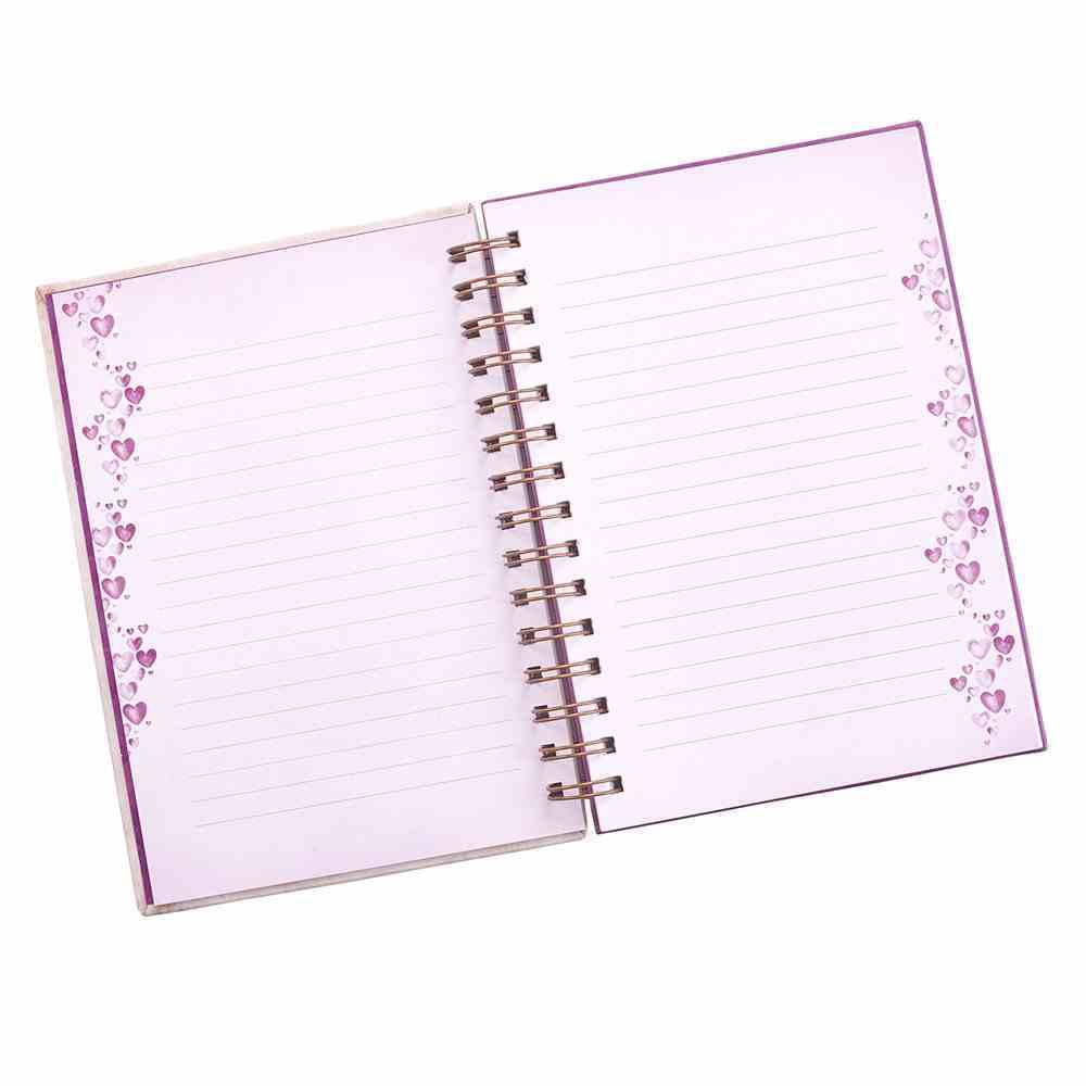 Journal: Let All That You Do Be Done in Love, Violet Floral Heart (Violet Heart Collection Series) Spiral