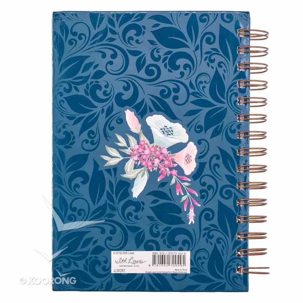Journal: Let Your Faith Be Bigger Than Your Fear, Native Floral Bouquet With Bird (Faith Fear Collection) Spiral
