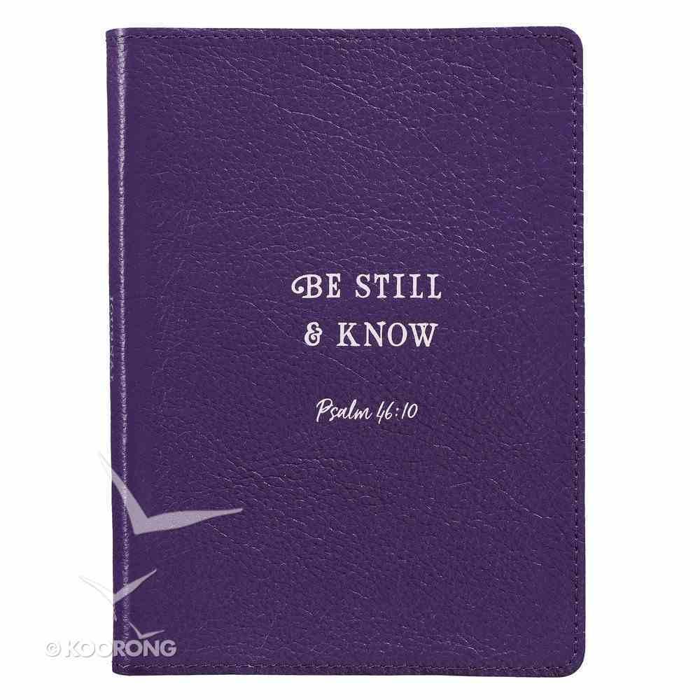 Journal: Be Still & Know, Deep Purple Genuine Leather Genuine Leather