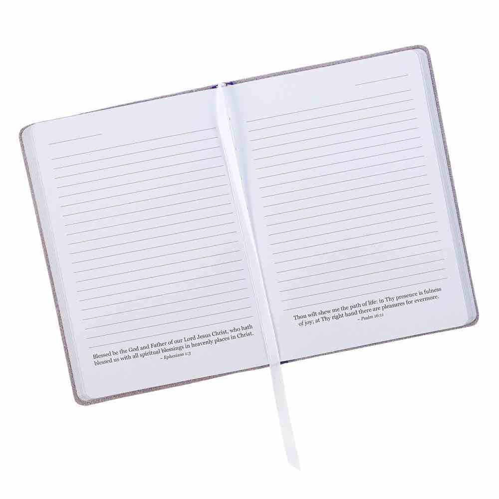 Journal: With God All Things Are Possible, Periwinkle Genuine Leather Genuine Leather
