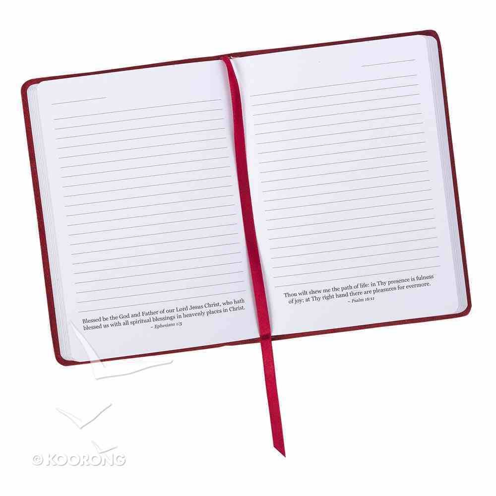 Journal: Commit to the Lord Whatever You Do, Red Genuine Leather (Proverbs 16:3) Genuine Leather