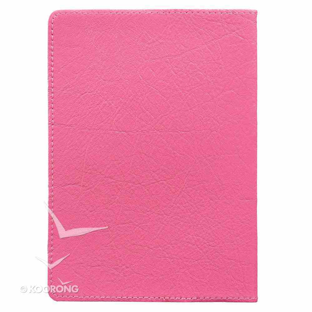 Journal: She is Clothed With Strength and Dignity, Pink Genuine Leather (Proverbs 31:25) Genuine Leather
