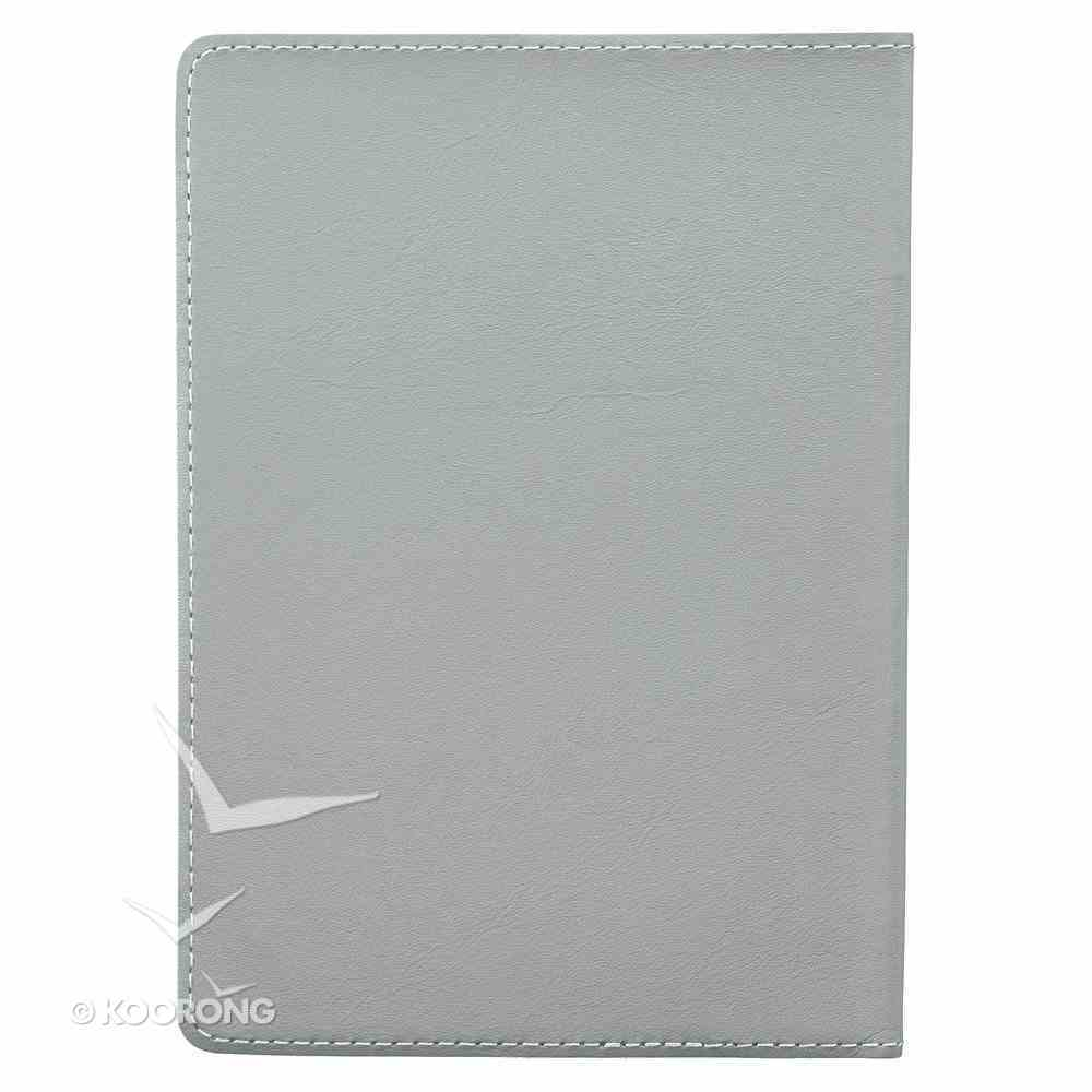 Journal: I Know the Plans, Grey Genuine Leather Genuine Leather