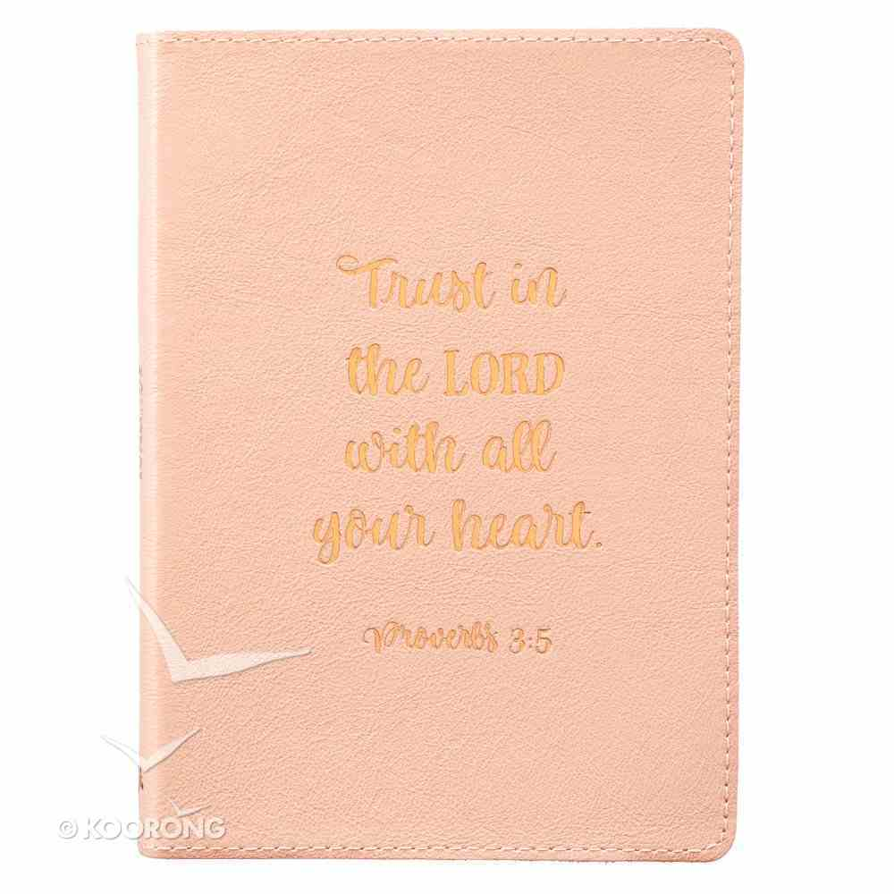 Journal: Trust in the Lord, Beige Genuine Leather Genuine Leather