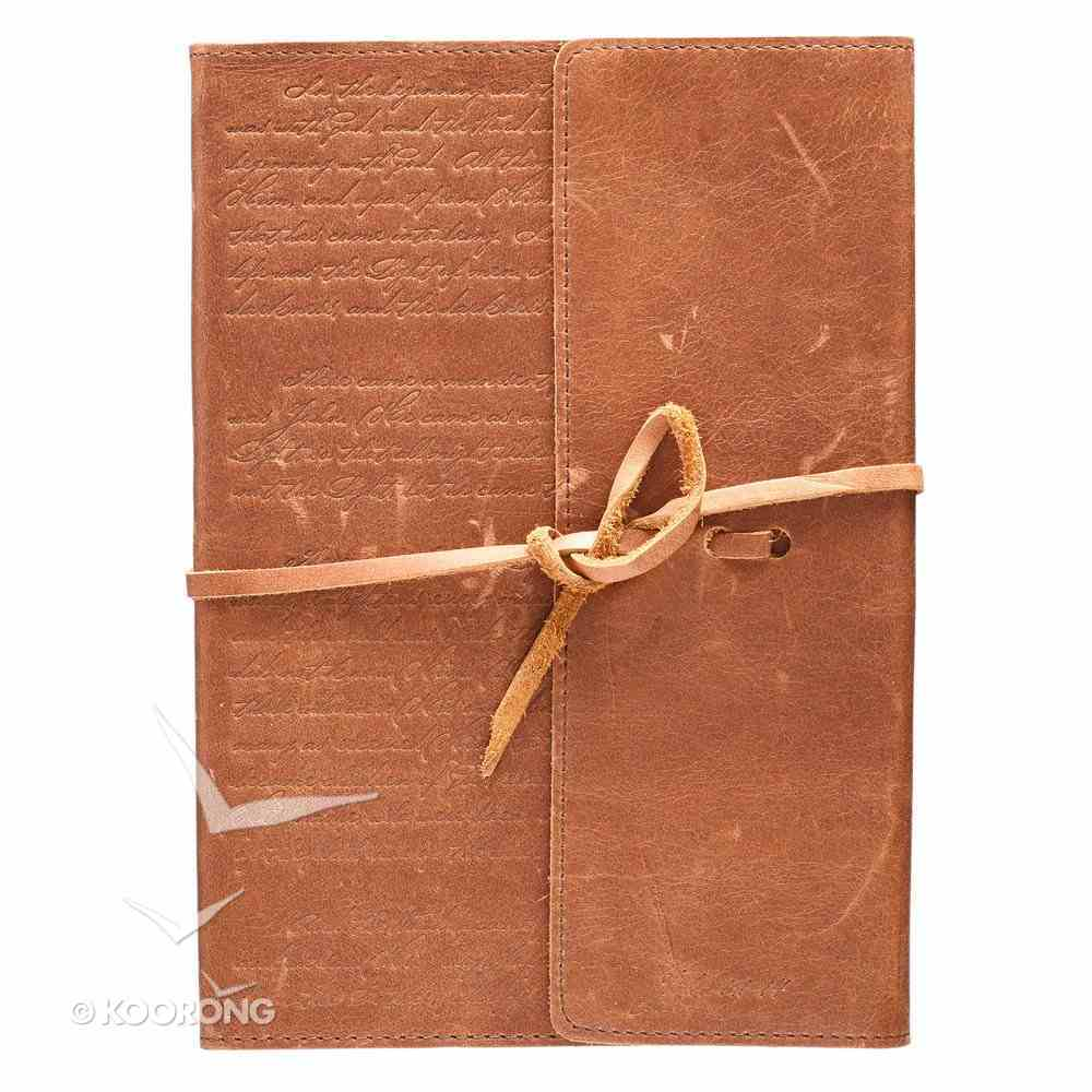 Journal: Genuine Leather With Wrap Closure Genuine Leather