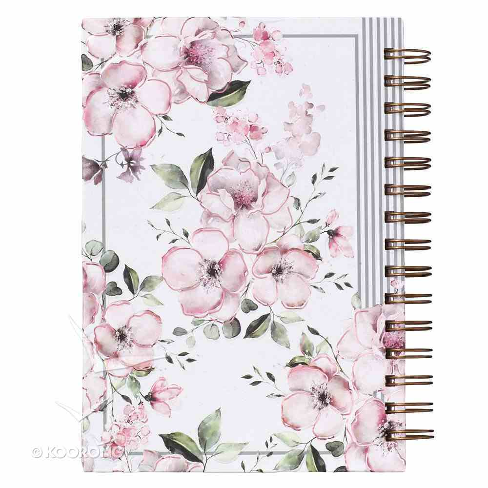 Journal: Trust in the Lord, Pink Floral (Proverbs 3:5) Spiral