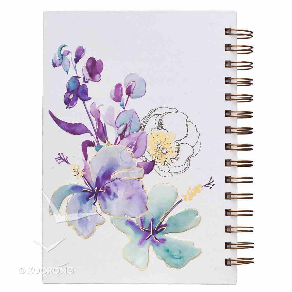 Journal: Faith, Blue Flowers (Hebrews 11:1) Spiral