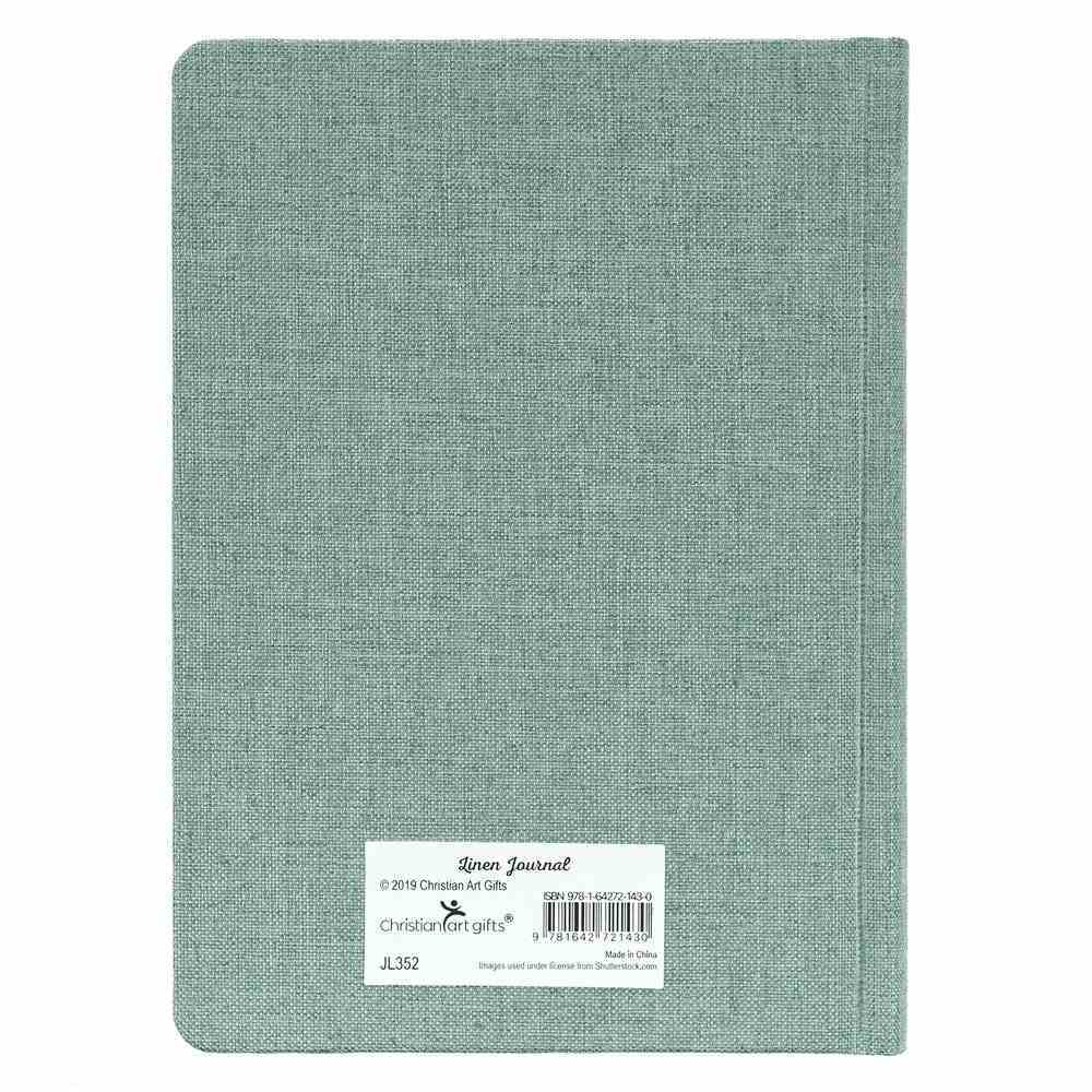 Linen Journal: For I Know the Plans I Have For You, Turquoise (Jer 29:11) Fabric Over Hardback