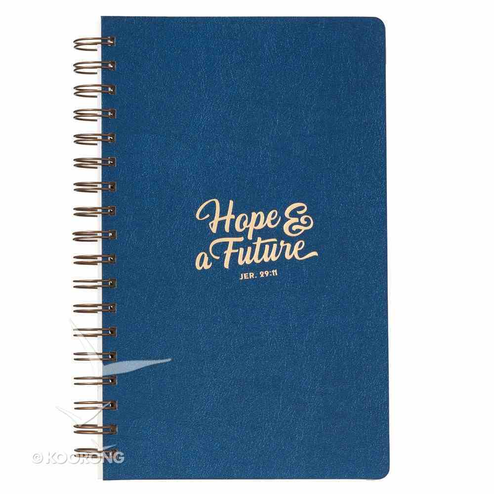 Spiral Journal: Hope & a Future, Navy/Gold Etched (Jeremiah 29:11) Spiral