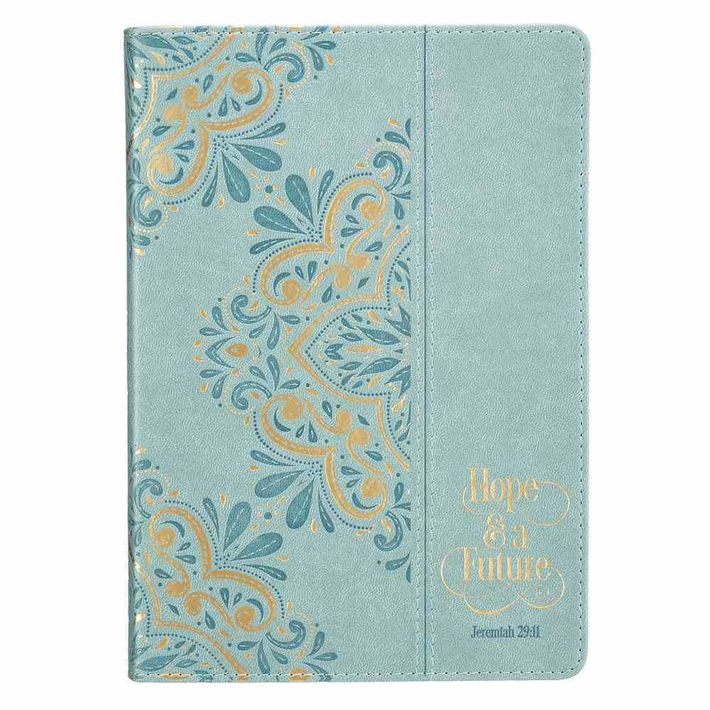 Journal: Hope and a Future Teal With Gold Foil, Zippered (Jer 29:11) (Hope And A Future Collection) Imitation Leather