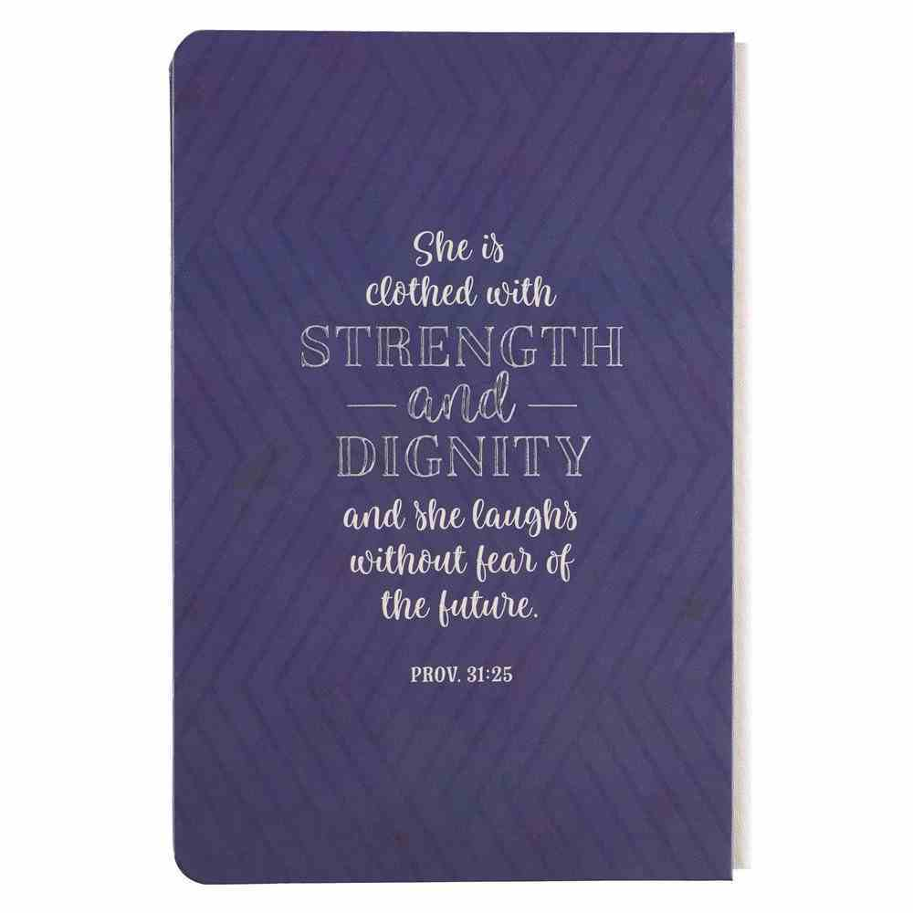 Journal: Strength & Dignity, Navy Fabric Over Hardback