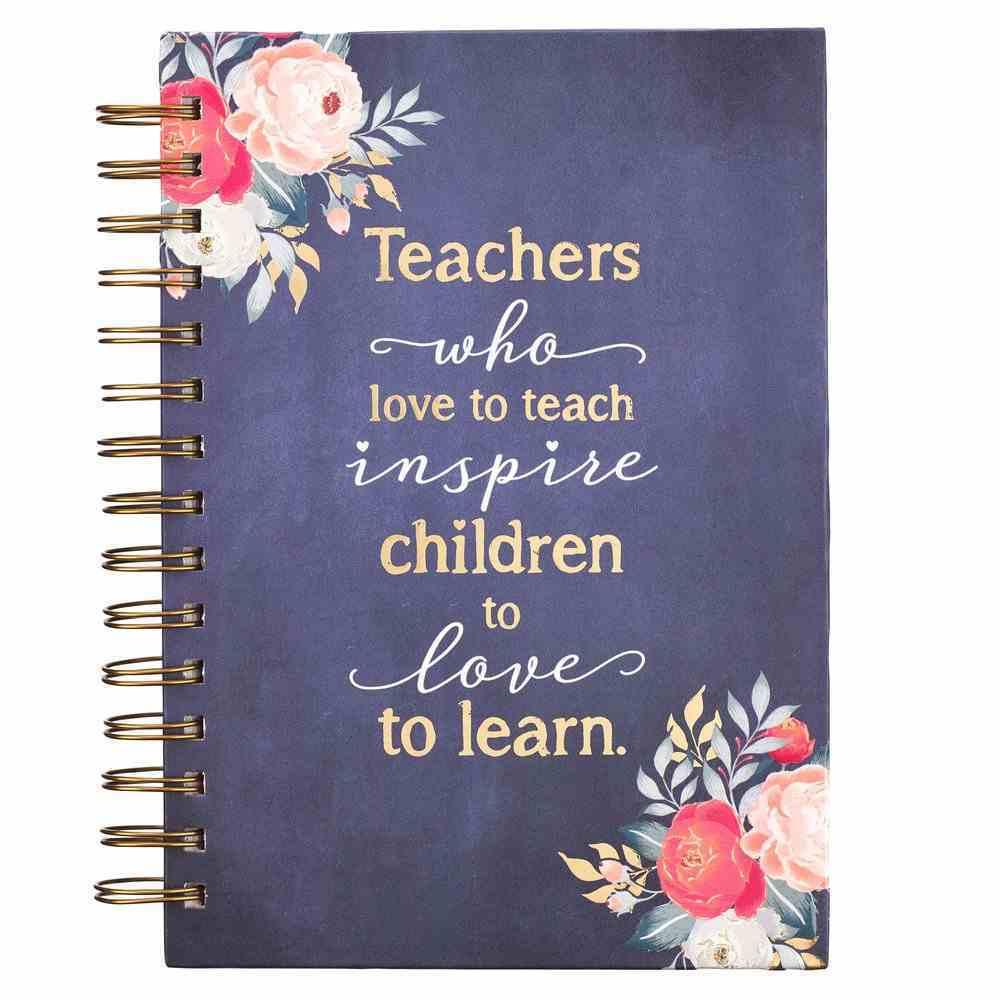 Journal: Best Teacher Ever, Navy, Gold Foil (Best Teacher Ever Collection) Spiral