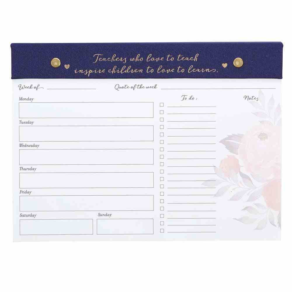 Undated Diary/Planner Pad: Best Teacher: Weekly Desktop Planner, 60 Sheets (Best Teacher Ever Collection) Stationery