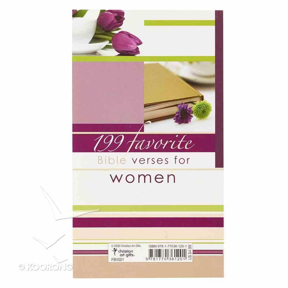 199 Favorite Bible Verses For Women Paperback