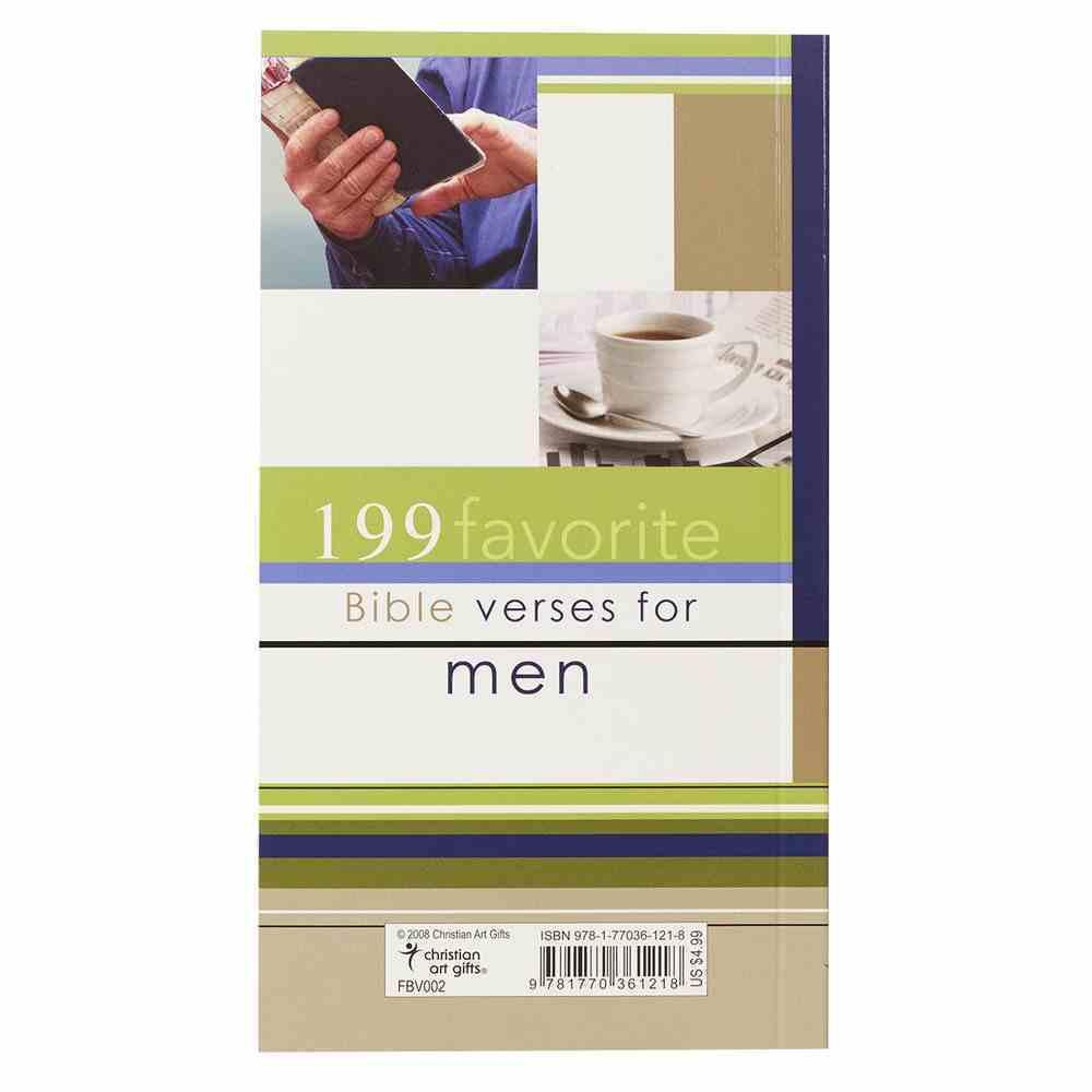 199 Favorite Bible Verses For Men Paperback