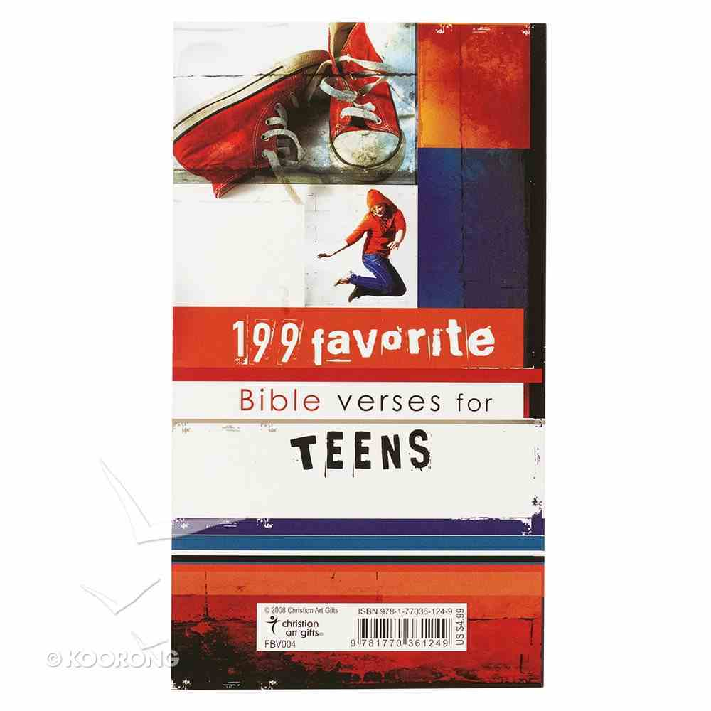 199 Favorite Bible Verses For Teens Paperback