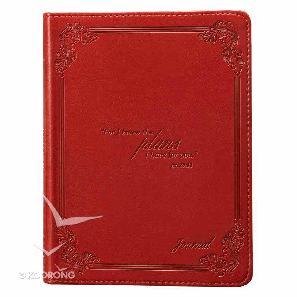 Classic Journal: I Know the Plans Red Luxleather Imitation Leather