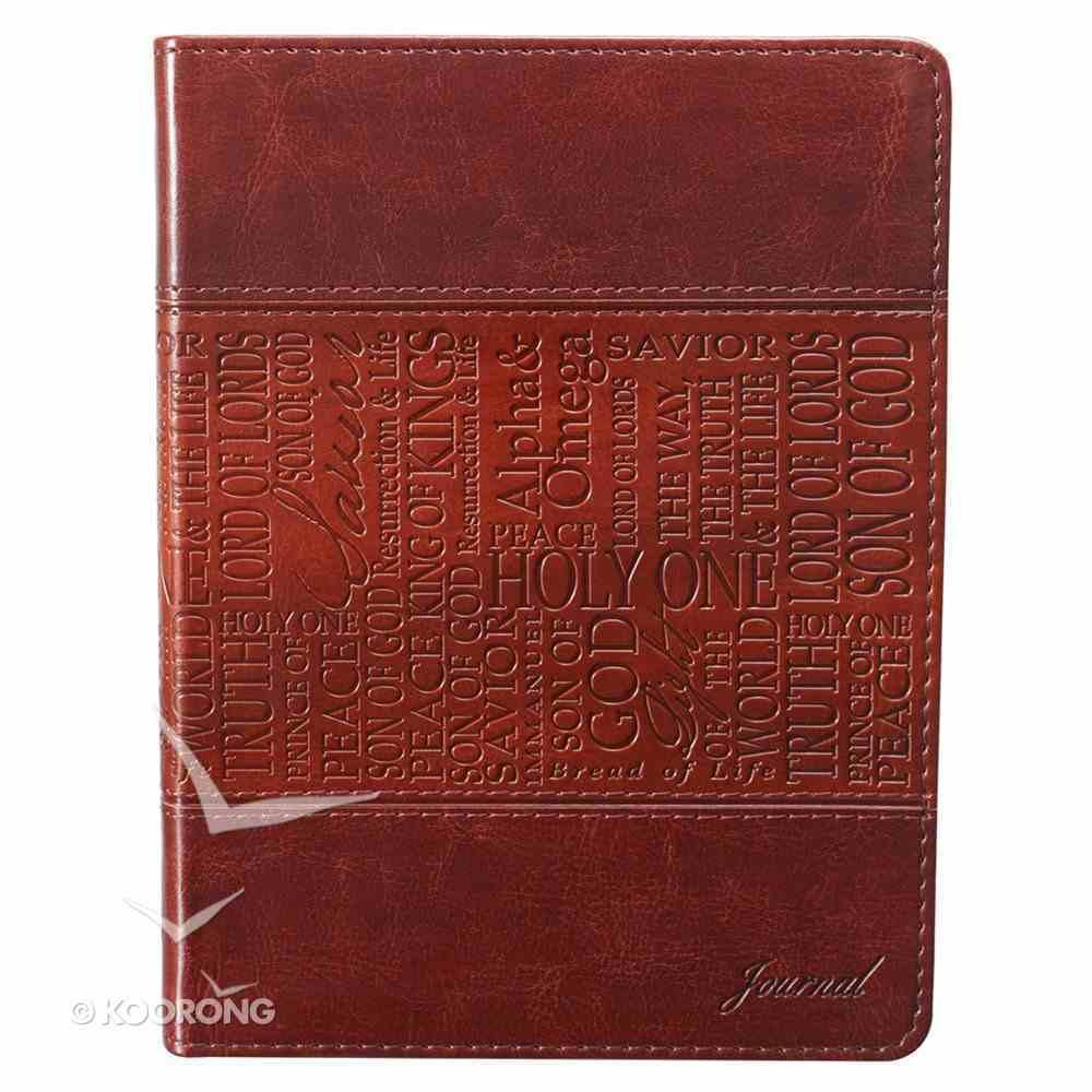 Journal: Names of Jesus Tan, Handy-Sized Imitation Leather