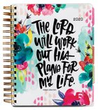 2020 18-Month Agenda Diary/Planner: His Plans, Gold Foil Spiral