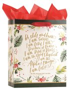Christmas Gift Bag Large: Be Still (Psalm 46:10 KJV) (Incl Two Sheets Of Tissue Paper) Stationery