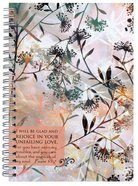 Journal: Floral, I Will Be Glad and Rejoice Spiral