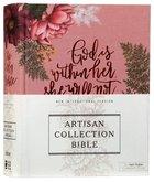 NIV Artisan Collection Bible Pink Floral (Red Letter Edition) Hardback