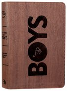 CSB Study Bible For Boys Brown Wood Design Leathertouch (Red Letter Edition) Imitation Leather