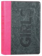 CSB Study Bible For Girls Pewter/Pink Paisley Design Leathertouch (Red Letter Edition) Imitation Leather