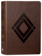 CSB Baker Illustrated Study Bible Brown Diamond Design (Red Letter Edition) Imitation Leather