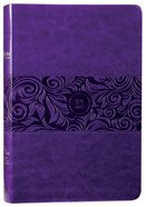 TPT New Testament Large Print Violet With Psalms Proverbs and Song of Songs Imitation Leather