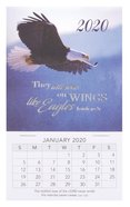 2020 Mini Magnetic Calendar: They Will Soar on Wings Like Eagles, Isaiah 40:31 Calendar