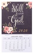 2020 Mini Magnetic Calendar: Be Still and Know That I Am God, Psalm 46:10 Calendar