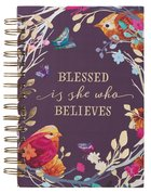 Journal: Blessed is She, Eggplant Floral, Gold Foil (Blessed Is She Collection) Spiral