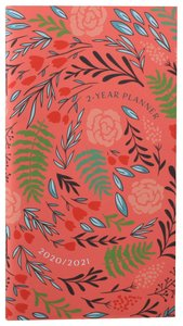 Product: 2020/2021 2 Year Pocket Planner: Coral/floral Image