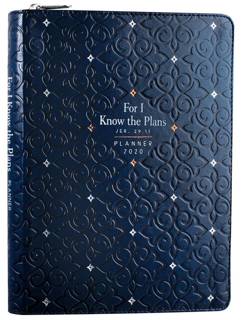 Product: 2020 16 Month Weekly Planner: For I Know The Plans (Faux Ziparound) Image