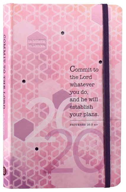 Product: 2020 16 Month Weekly Planner: Commit To The Lord Image