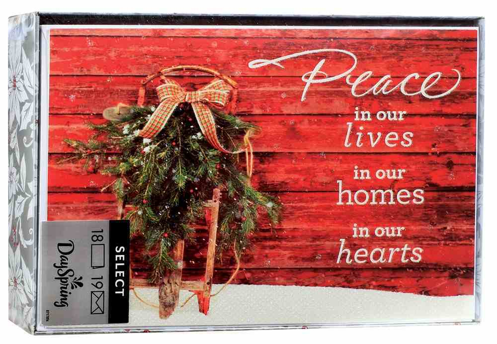 Christmas Boxed Cards: Peace in Our Hearts (John 14:27 Nrsv) Box
