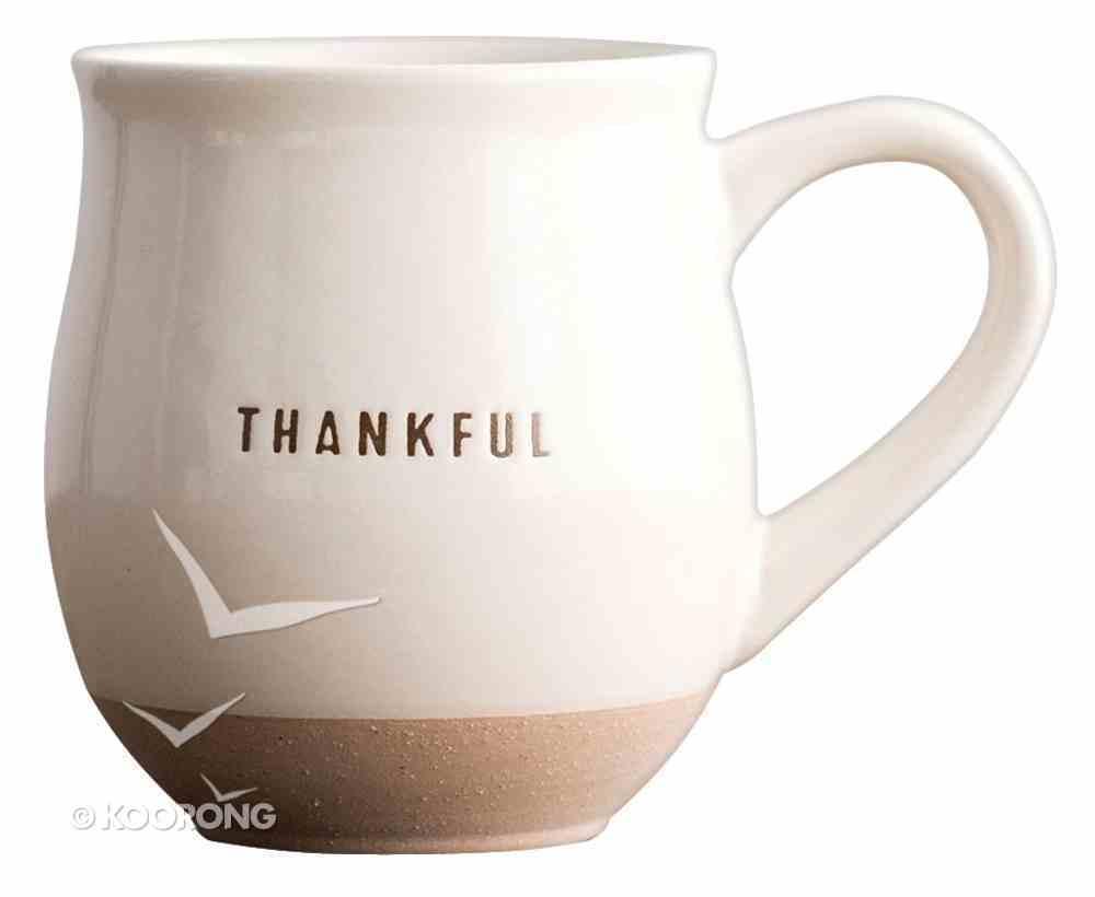Clay Dipped Mug: Thankful Homeware