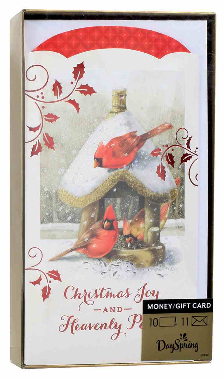 Christmas Money/Gift Card Holder: Christmas Joy and Heavenly Peace (Luke 2:10 Kjv) Cards