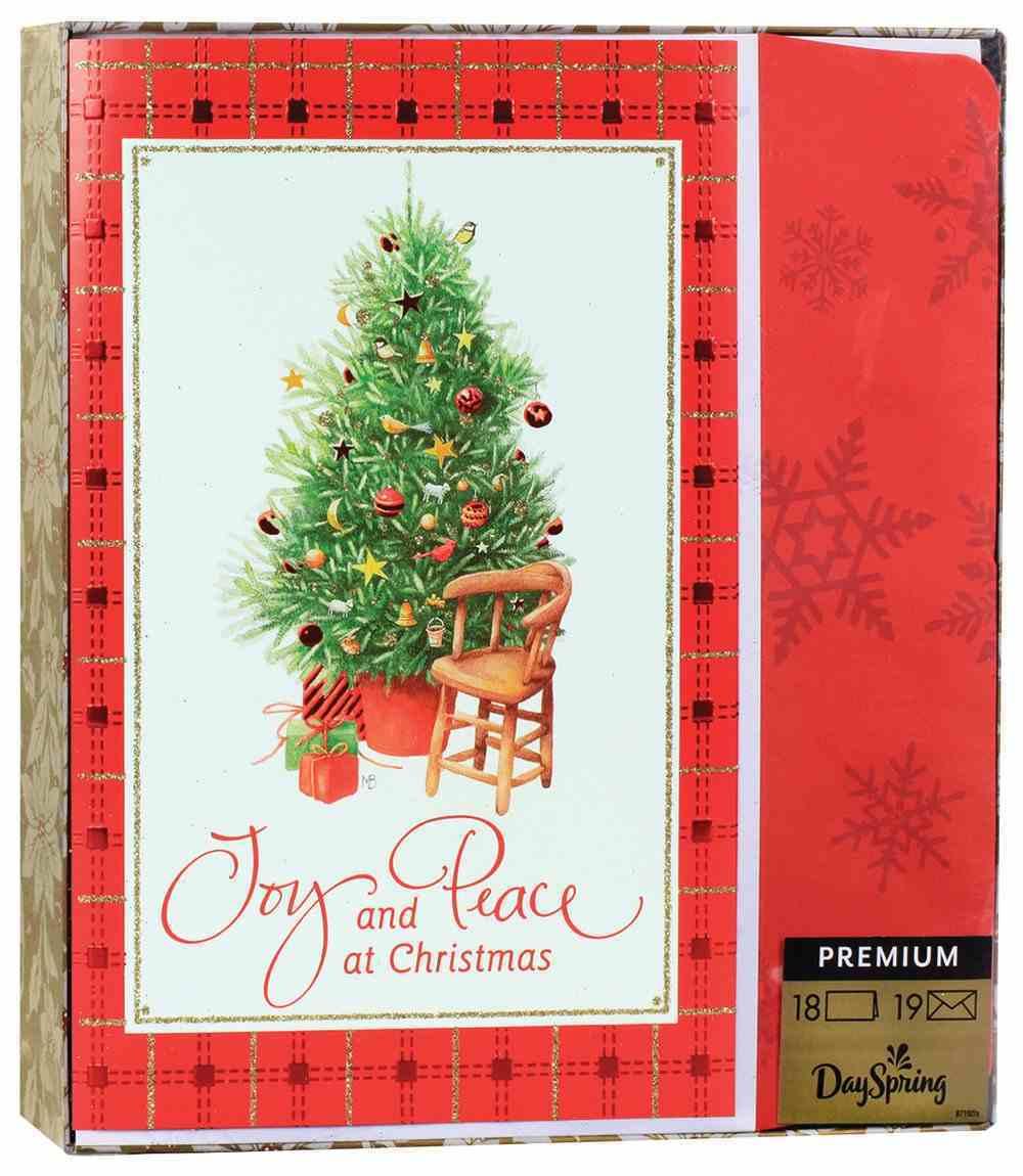 Christmas Premium Boxed Cards: Joy and Peace KJV (Luke 2:10) Box