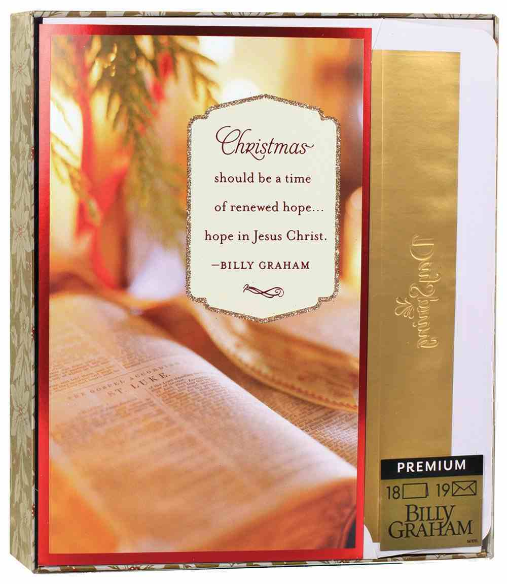 Christmas Premium Boxed Cards: A Time of Renewed Hope (James 1:17 Kjv) Cards