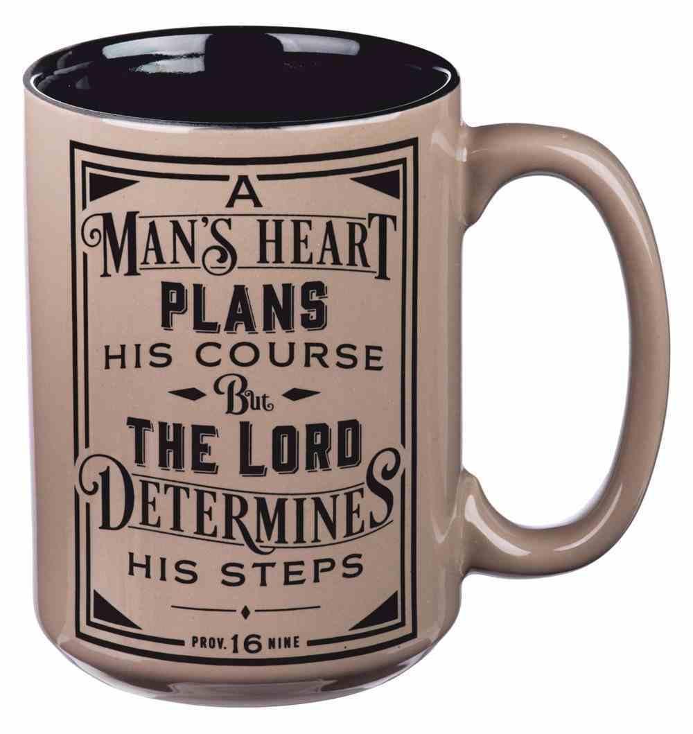 Ceramic Mug a Man's Heart (Prov 16: 9) (414ml) (A Man's Heart Collection) Homeware