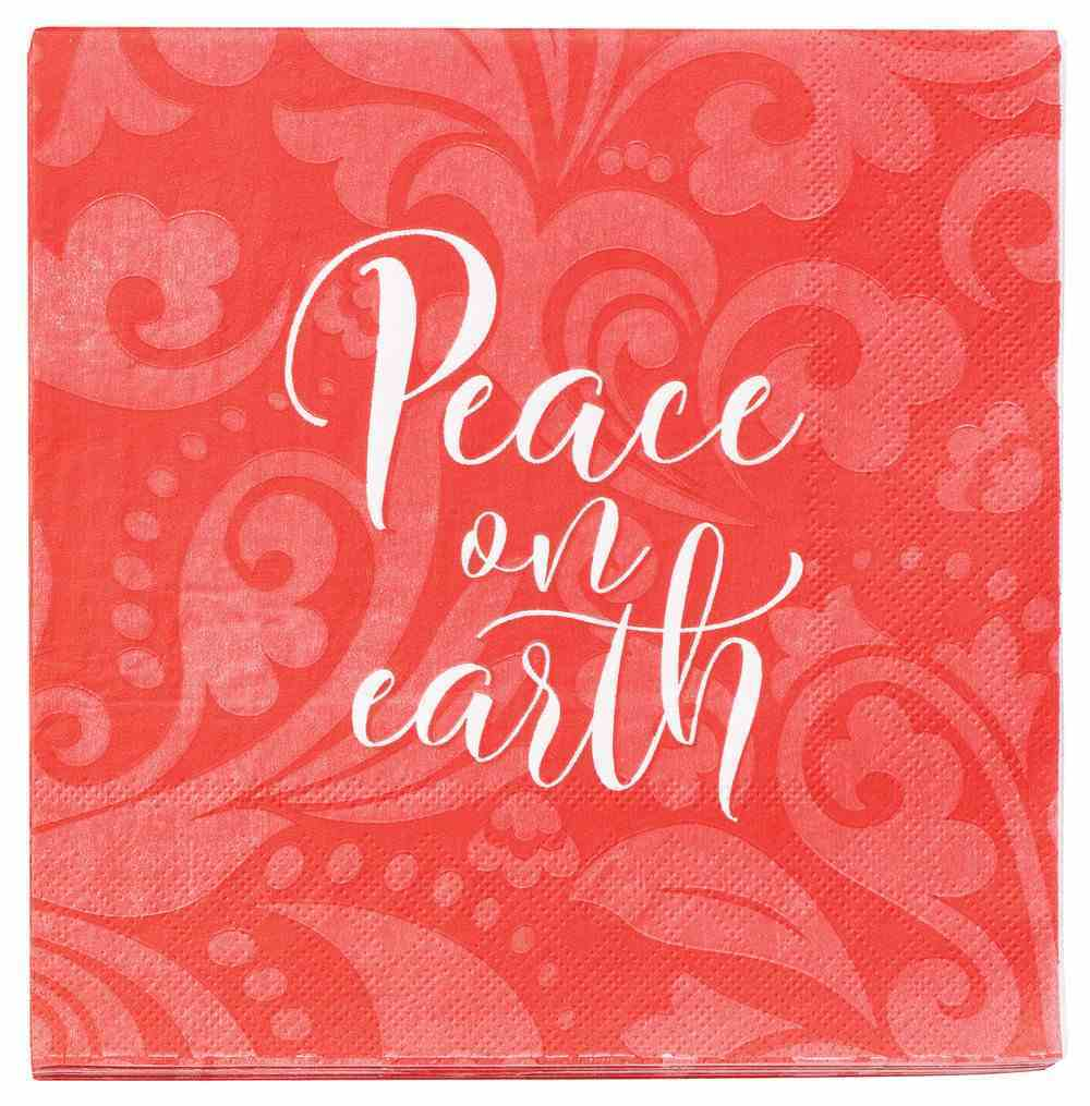 Christmas Napkins: Peace on Earth 20 Pack 3 Ply Lunch Napkins 112 X 197mm Homeware