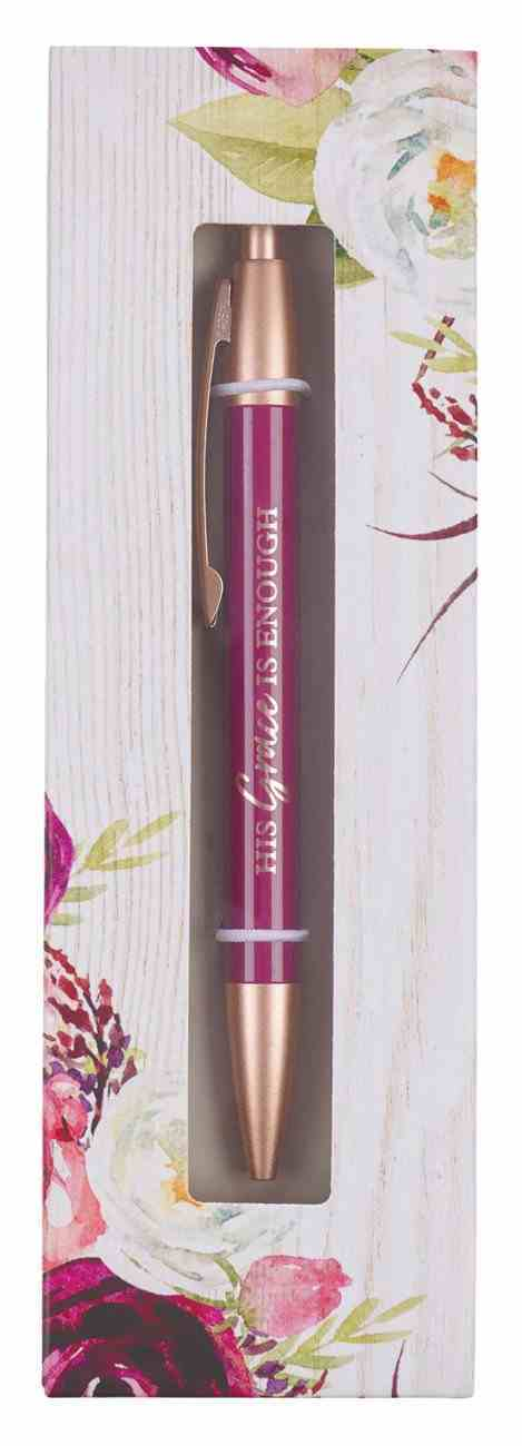 Classic Pen: Grace Magenta (2 Cor 12:9) (His Grace Is Enough Collection) Stationery