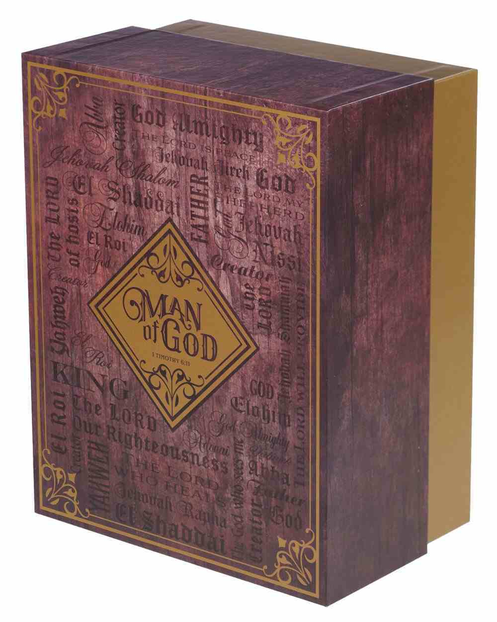Boxed Gift Set: Man of God Journal and Ceramic Mug (420 Ml) Pack