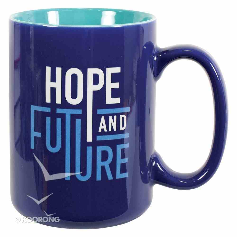 Ceramic Mug: Hope and Future Navy/Light Blue (Jer 29:11) Homeware